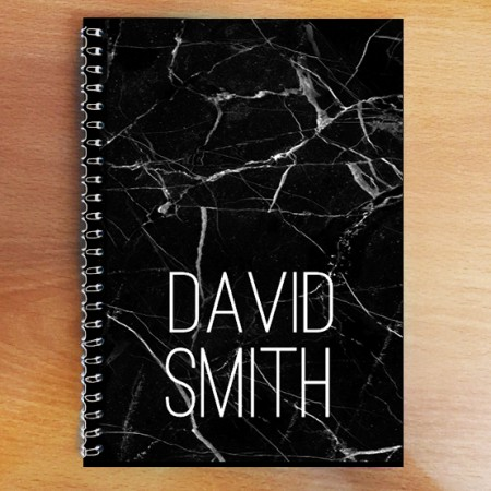 Personalised Photo Notebook - Black Marble A5