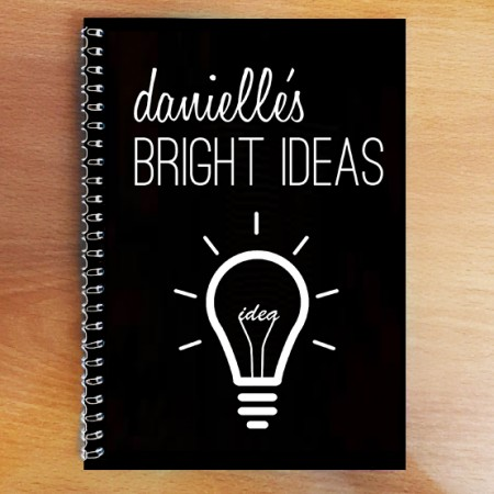Personalised Photo Notebook - Bright Ideas A5