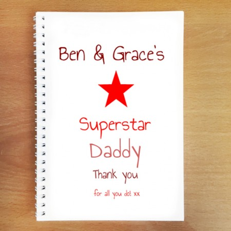 Personalised Superstar Dad Notebook