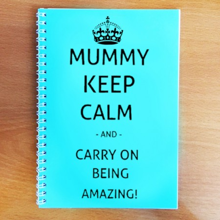 Personalised Keep Calm Mum Notebook