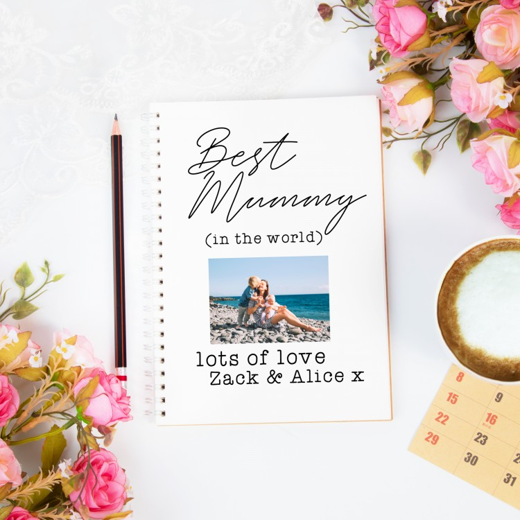 Personalised Photo Notebook - Add Your Own Text