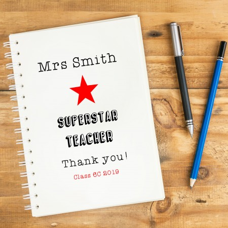 Personalised Superstar Notebook A5