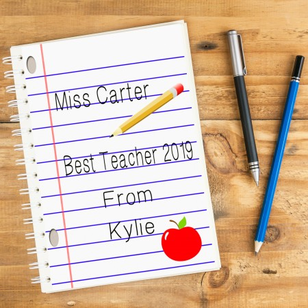 Best Teacher Personalised Notebook A5