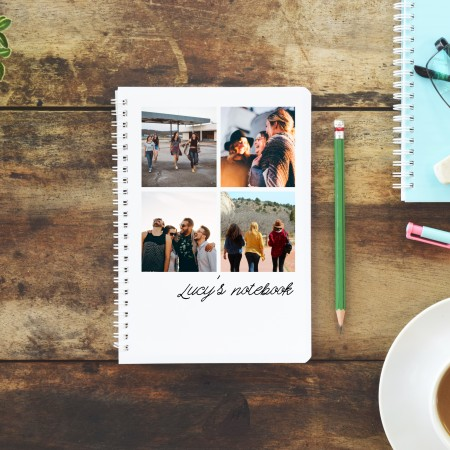 Personalised Photo Notebook - 4 Photos A5