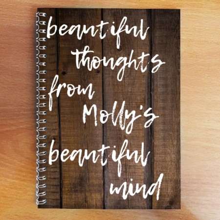 Personalised Photo Notebook - Beautiful Mind A5