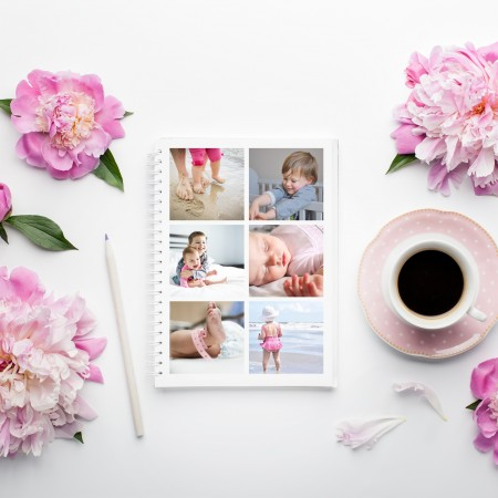 Personalised Photo Notebook A4 - 6 Photos