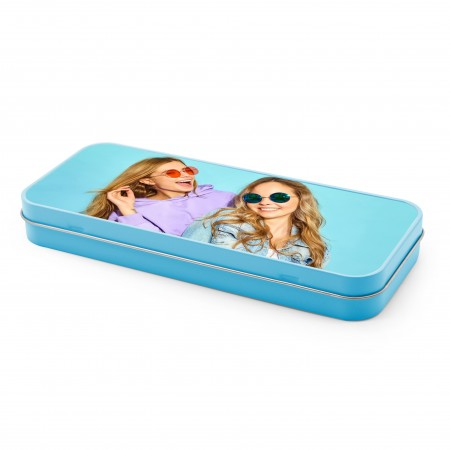 Personalised Pencil Tin - Blue
