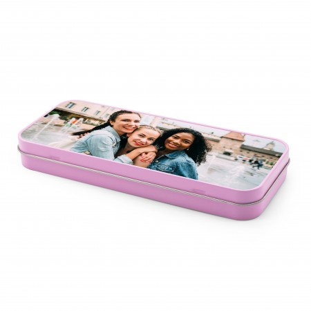 Personalised Pencil Tin - Pink