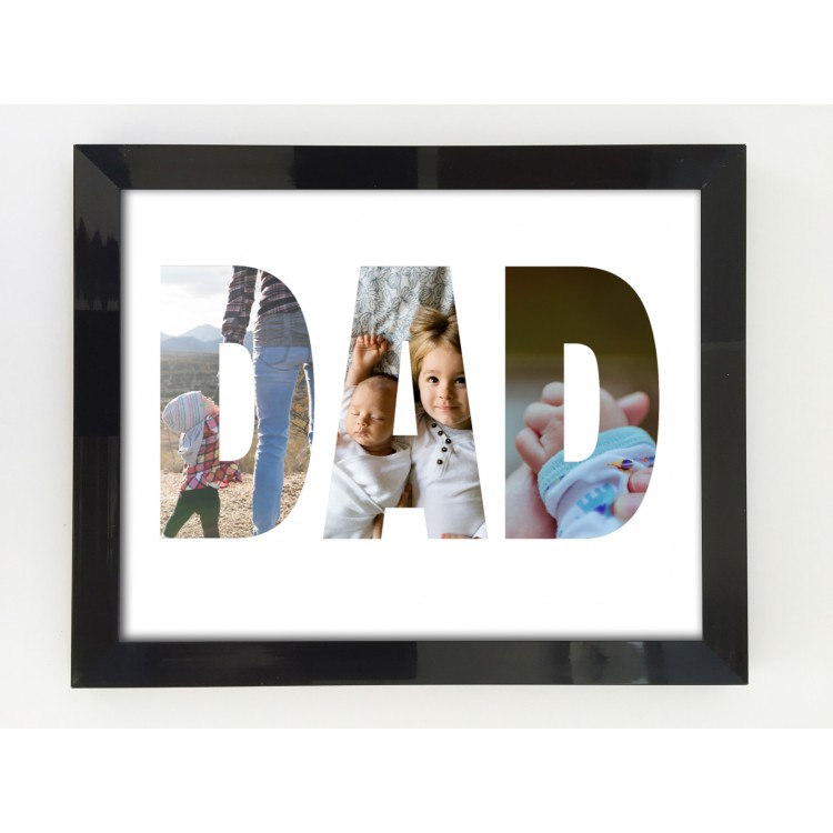 12x8 Inch Dad Photoprint Poster