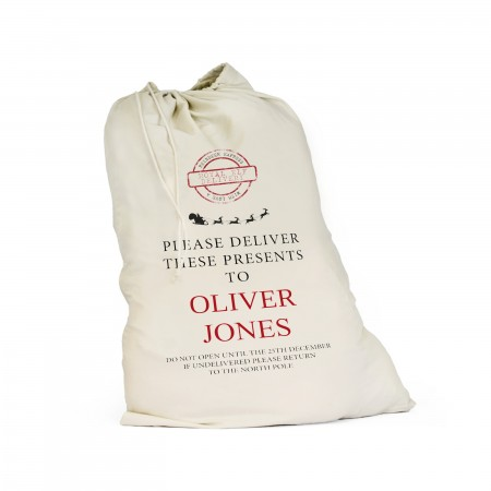 Personalised Santa Sack -  Large. Eco-Friendly