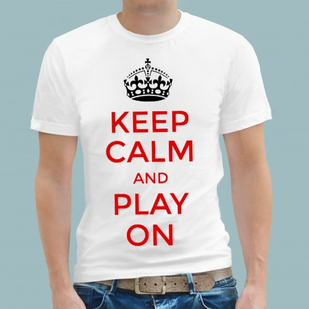 T Shirt - Football Keep Calm