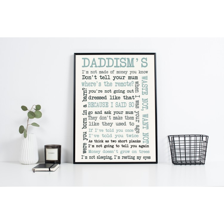 Sayings Typography Poster