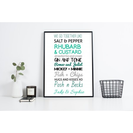 We go together - Typography Poster