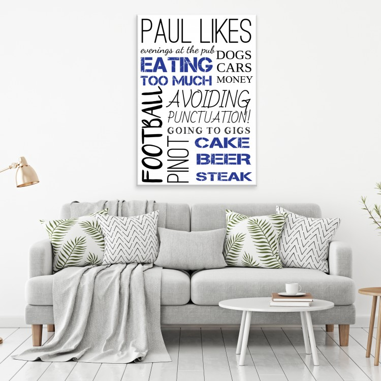 'My Likes'  Typography Canvas