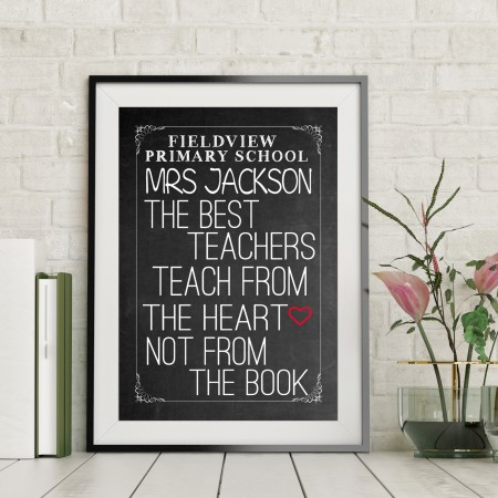 Chalkboard Typography Poster  - from £1.95