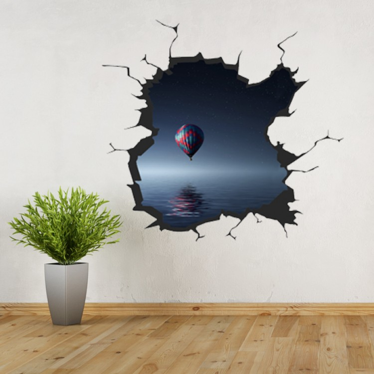 Vinyl Wall Art - Add Your Photo - Cracked wall