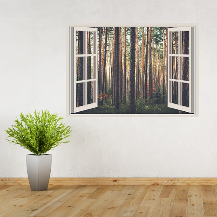 Vinyl Wall Art - Add Your Photo - Window Scene
