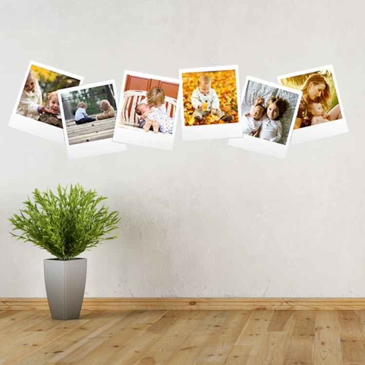 Vinyl Wall Art - Add Your Photos - Polaroids