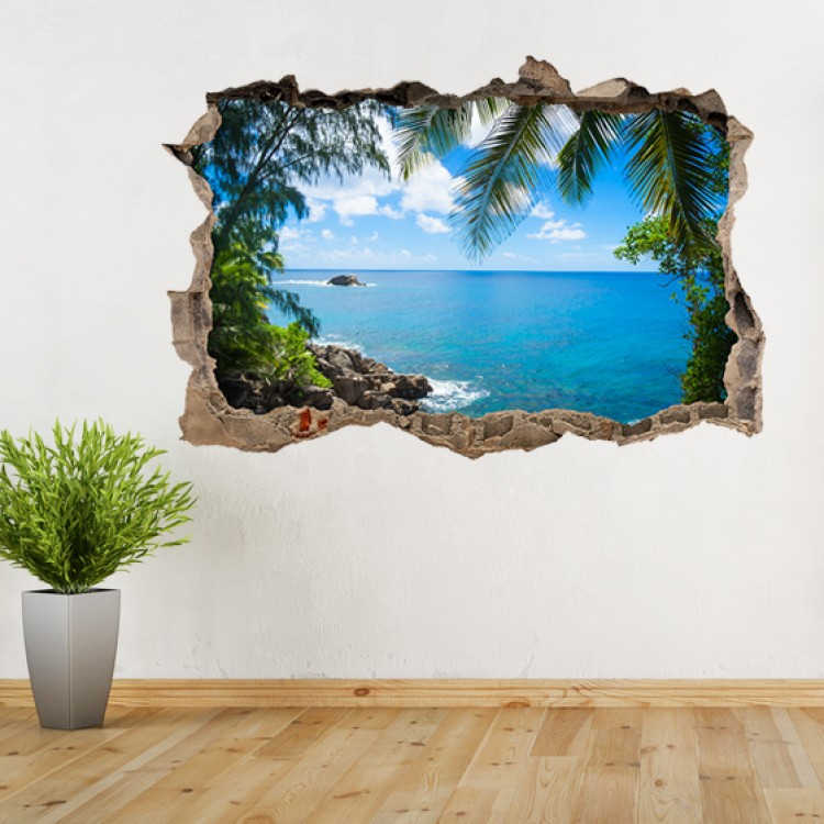 Vinyl Wall Art - Add Your Photo - Hole in Wall