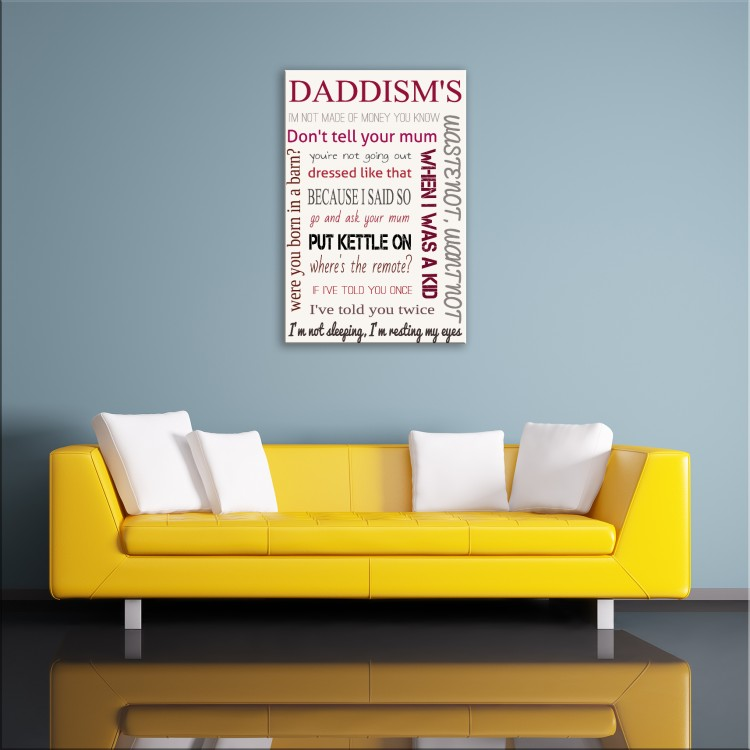 'Daddisms'  Typography Canvas