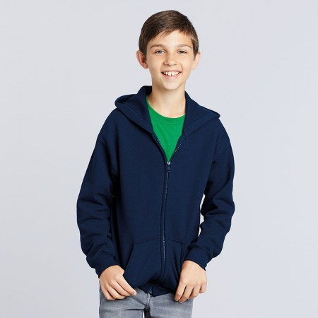 Hoodies - Zip front.  Printed or embroidered - Children's