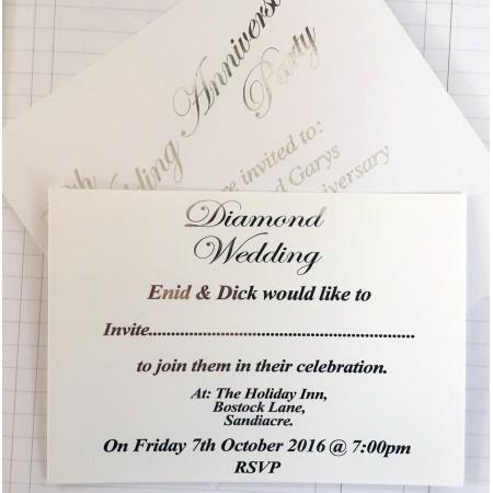 Invitation -  Foil Lettering