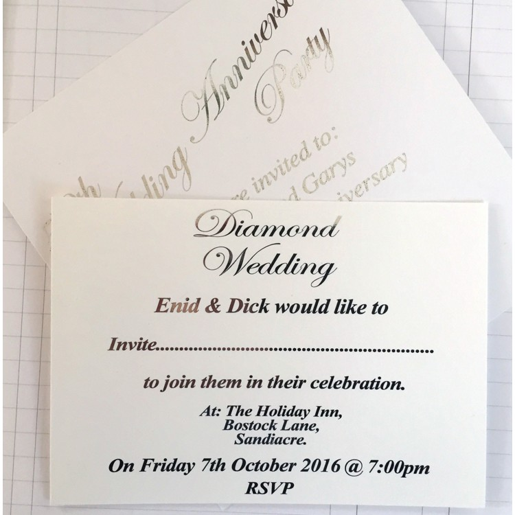 Traditional Invitation - A6 Foil Lettering