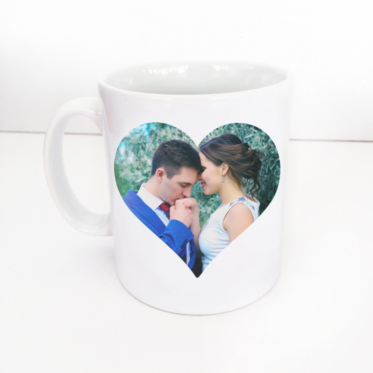 Single Image Heart Mug