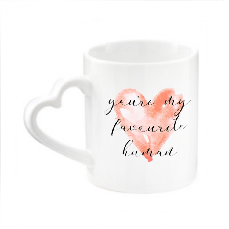 Personalised Mug - Heart Shaped
