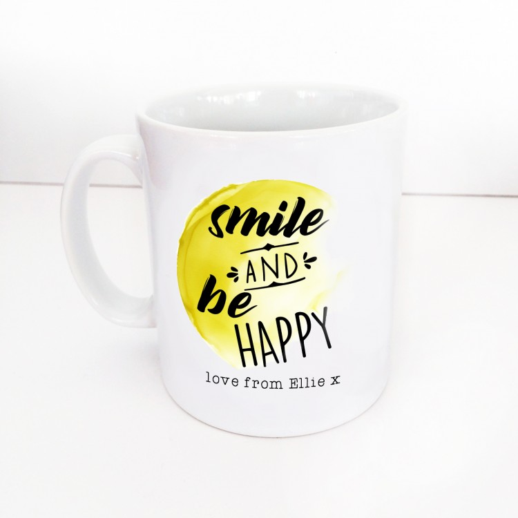 Smile and be happy mug