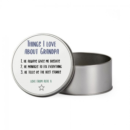 Personalised Tin - Round Designs