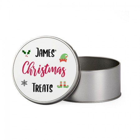 Personalised Christmas Tin - Round