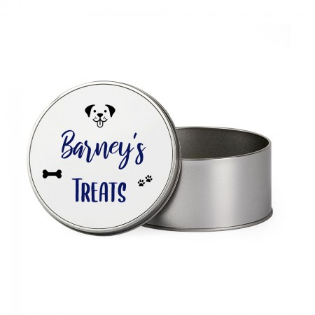 Personalised Dog Treats Tin - Round