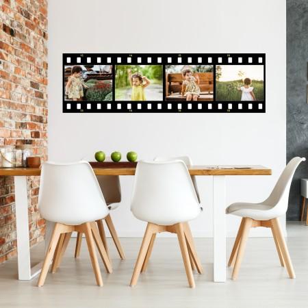 Vinyl Wall Art - Add Your Photos - Movie Strip