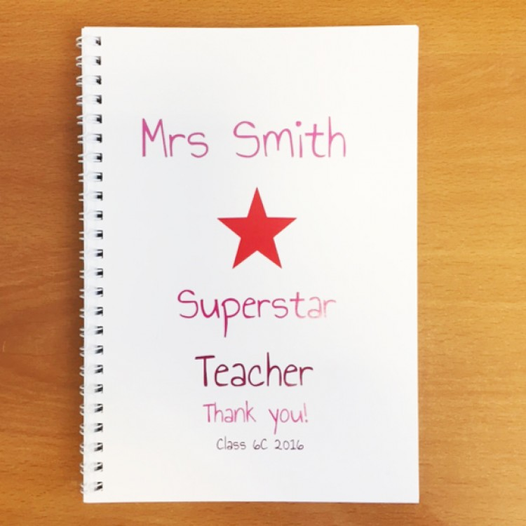 Personalised Superstar Notebook