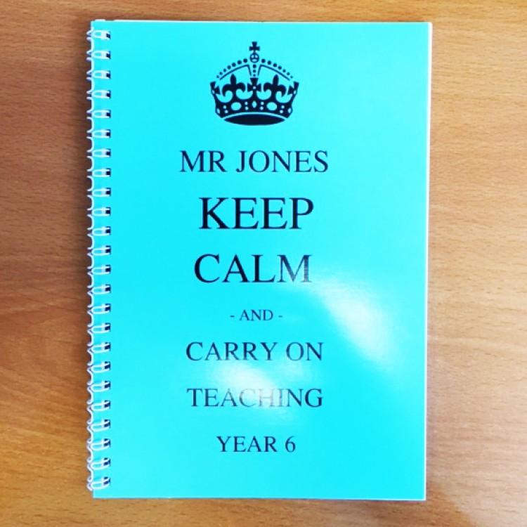 Personalised Keep Calm Notebook