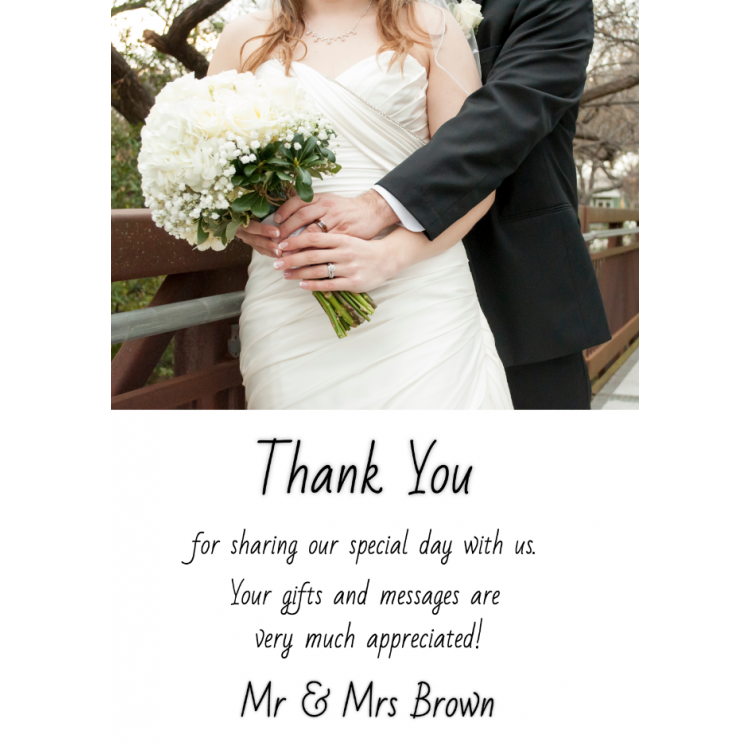 Design your own Thank you card - Flat A5
