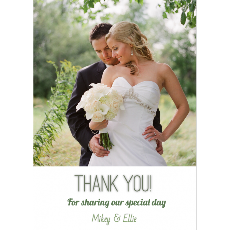 Design Your Own Thank you card - Flat A6