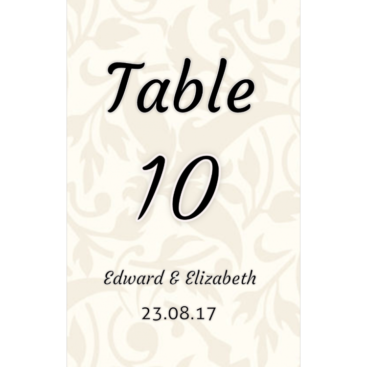 Design your own Table Name Cards A5