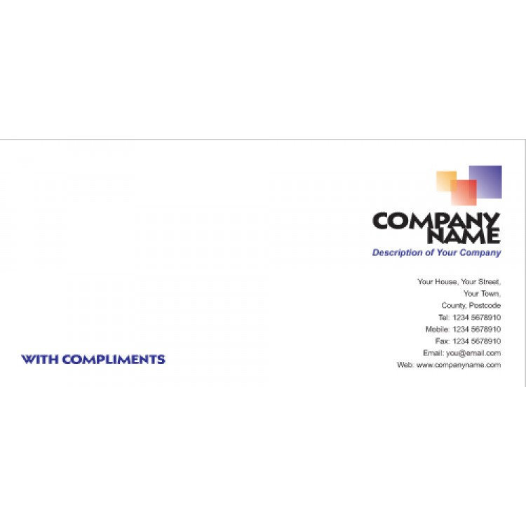 Compliment Slips - 120 gsm premium smooth