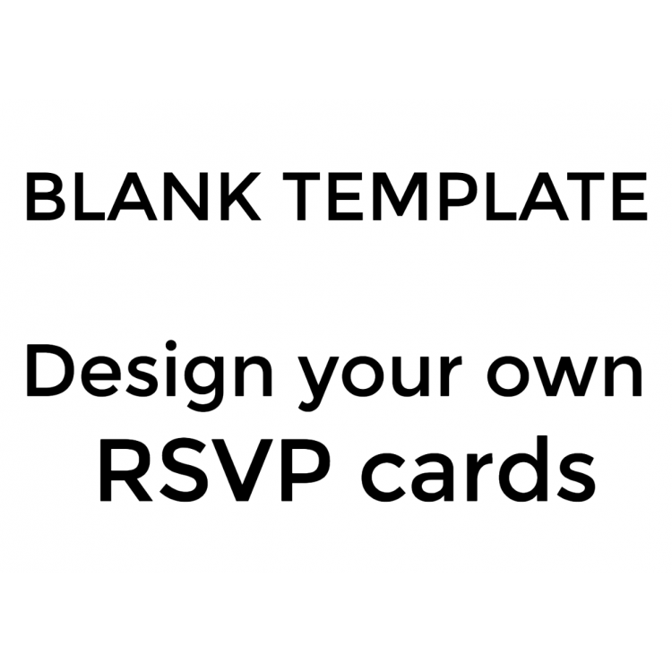 Design you own RSVP Cards