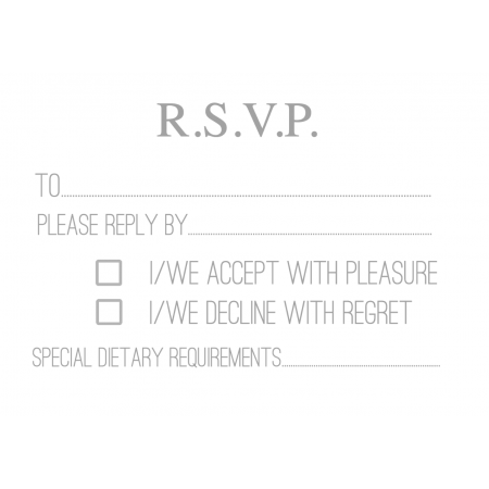 RSVP Cards Design 1 Simple