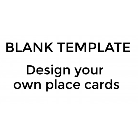 Place Cards - Design your Own