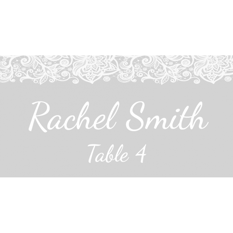 Place Cards - Grey lace