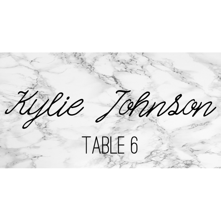 Place Cards - White marble
