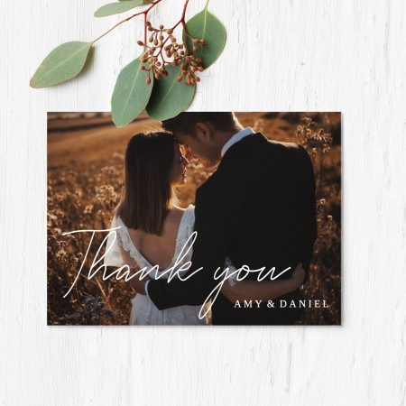 Landscape Photo Wedding Thank you cards - Flat A5