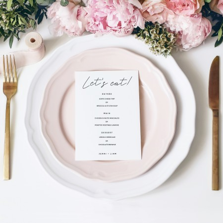 Wedding Menus - Flat A5