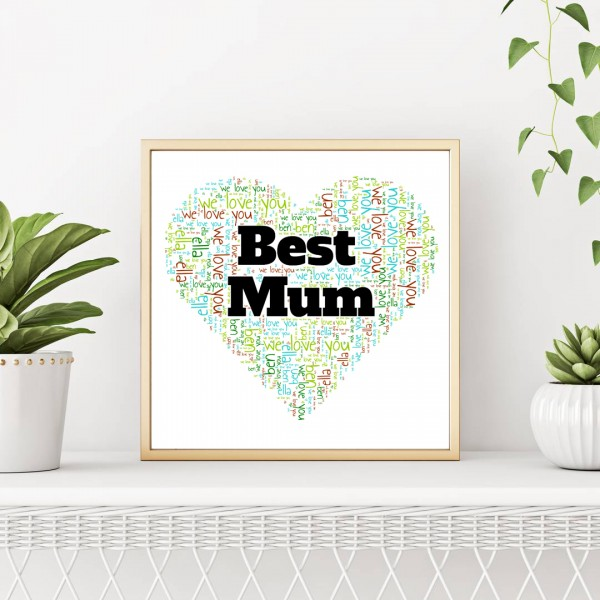 Photo & Shapes Word Art Posters