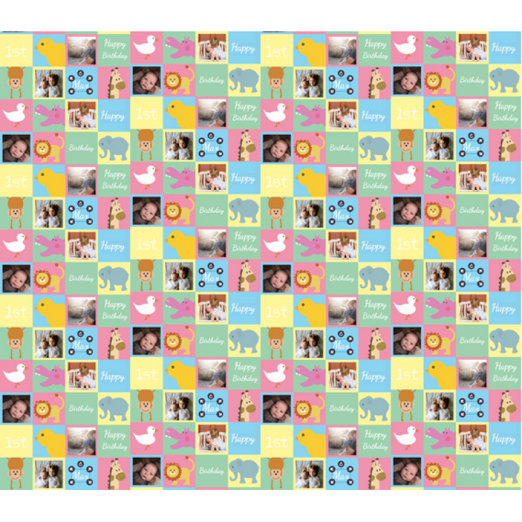 Personalised Wrapping Paper Baby 1