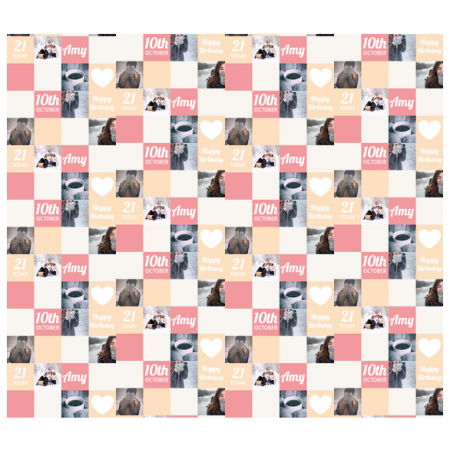 Personalised Wrapping Paper Colour Grid and photos